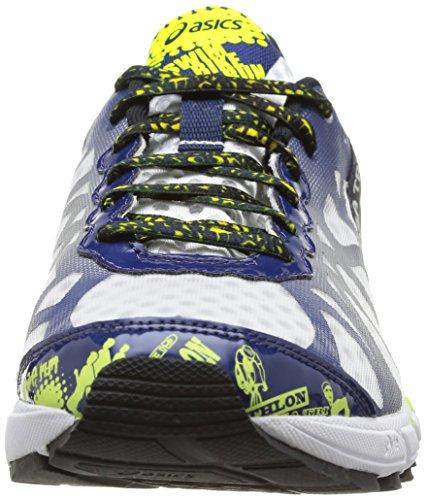 Asics Gel-Noosa Tri 9, Chaussures de trail homme Bleu (0149-White/Navy/Flash Yellow)