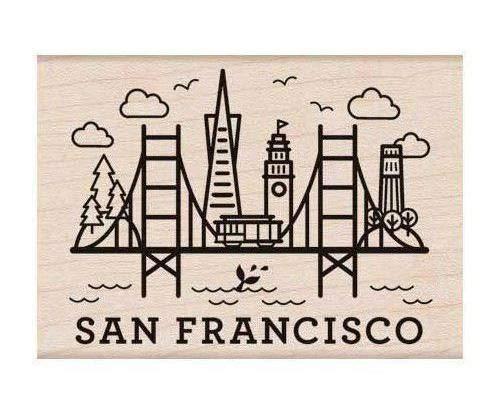 San Francisco - Gummi Stempel Auf Holz (1pc), Hero Arts, Gummi, Stempel, Scrapbooking Papier -