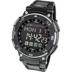 [Lad Weather] Smart Watch for iPhone and Android / Phone call Email notice Digital smart watch for Men