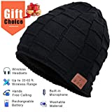 Bluetooth Bonnet Chapeau, Cadeaux pour Hommes et Femmes, Mains Libres pour la Musique HD et Les appels, Mise à Niveau Bluetooth 5.0, Lavable Bluetooth Knit Beanie Gifts (Fashion 1)