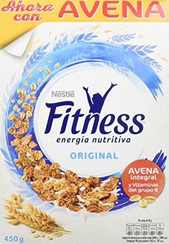 Cereales Nestlé Fitness Original - Copos de trigo integral, arroz y