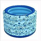 YUGANG Tragbare Badewanne der runden erwachsenen Kinder verdickte aufblasbares unabhängiges Portable mit bequemer hoher Qualität weicher Sicherheitsbadewanne PVC-Rosablau 100 * 75CM ( Farbe : Blue )