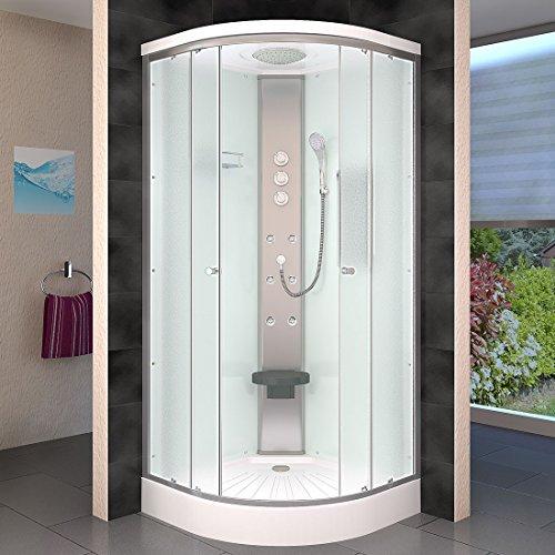 AcquaVapore DTP10-2011 Dusche Duschtempel Duschkabine Fertigdusche 100x100, EasyClean Versiegelung der Scheiben:Nein! +0.-EUR