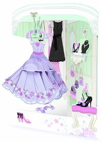 (Santoro Interaktive 3D-Popnrock Grußkarte, Kleid Shop (spr015) Dress Up)