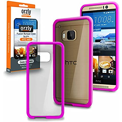 ORZLY® - HTC ONE M9 Caja DURO Fusión Gel Funda ROSA (Fusion Gel Hard Case BLACK Phone Cover Skin) para HTC ONE M9 - Nuevo 2015 Modelo / Versión SmartPhone / Teléfono Celular / Teléfono