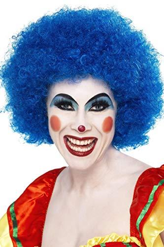 Smiffys Unisex Verrückter Clown Perücke, One Size, Blau, 42083 (Ideen Up Crazy-dress)