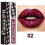 PNING Sexy 8 Farben Nude Metallic Matt Samt Glossy Lipgloss Lipstick Lip Cream Glänzender metallischer Lipgloss Feuchtigkeitsspendend Lippenstift Langanhaltend Fantastisch volle und weiche Lippen