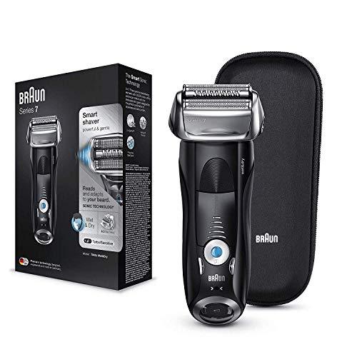 Braun Series 7 7842s - Afeitadora Eléctrica Hombre para Barba, en Seco y Mojado, Recortadora de Precisión...