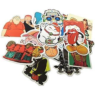FNGEEN Cool Aufkleber für Laptop MacBook Skateboard Snowboard Gepäck Koffer iPhone Car Bike Bumper Sticker Bomb Pack–Vintage Retro Pop Art Graffiti Aufkleber Aufkleber Pack