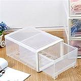Schuhbox, Damen Herren stapelbar Kunststoff Schuh-Aufbewahrungsbox Organizer mit Transparent Tür