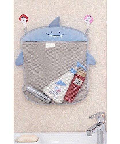 HENGSONG Baby Niedlich Badewanne Spielzeug Aufbewahrungstasche Badespielzeug Netz Tasche Badezimmer Organizer Hängender Mesh Beutel (Grau)
