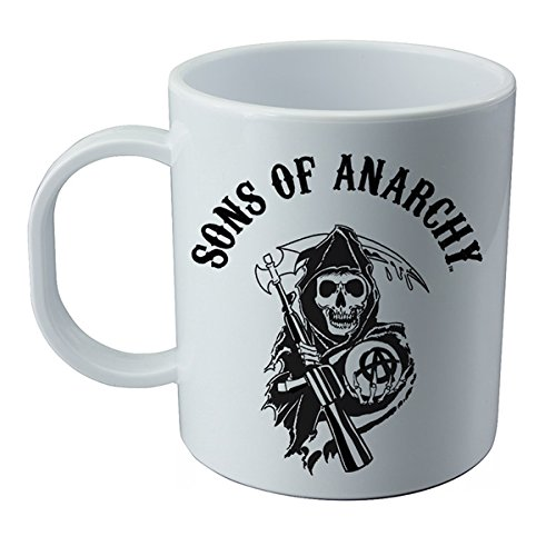 Tasse et autocollant de le serie Sons of Anarchy.