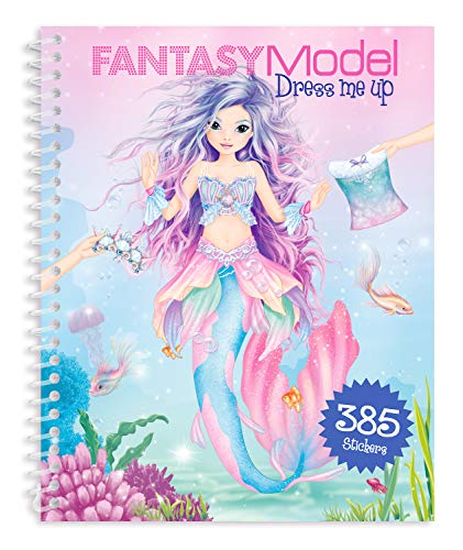 Depesche 10445 - Malbuch Dress me up Stickerbook, Fantasy Model - Malbuch, Mädchen