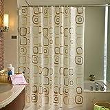NANIH Home DuschvorhängeWasserdicht gepolsterte Form Kunststoff Duschvorhang Vorhang Duschvorhang Clo Bad Dusche Trennvorhänge-O