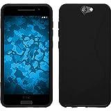 PhoneNatic Funda de Silicona Compatible con HTC One A9 - S-Style Negro - Cover Cubierta + Protector...