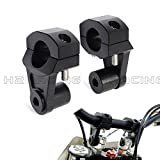 "H2RACING Black 1 1/8"" 28mm Pivoting CNC Handlebar Riser Clamp for Multistrada 10-13 Hypermotard All years Triumph Speed/Street Triple 08-13 Tiger 800 XC/Street/Roadie 11-13"