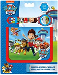 Kids Euroswan - Set de billetera + reloj digital de la patrulla canina