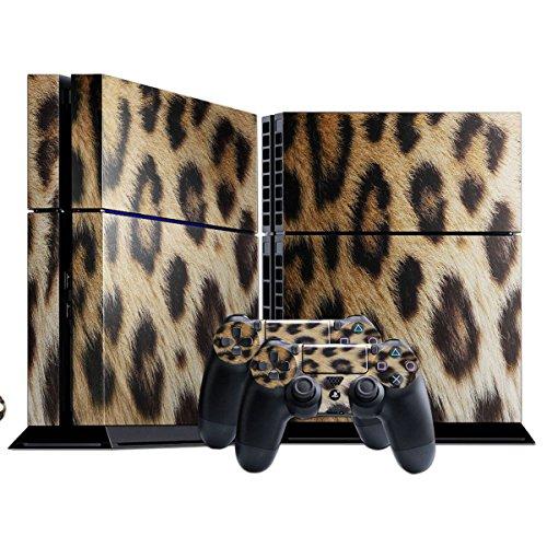 Leopard, Designfolie Sticker Skin Aufkleber Schutzfolie mit Farbenfrohem Design fr Playstation 4 CUH 1000 1100