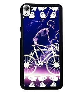 Fuson 2D Printed Skeleton Designer back case cover for HTC Desire 826 - D4520