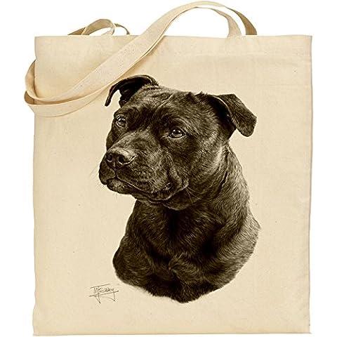 Mike Sibley (Staffordshire Bull Terrier Sac en coton naturel
