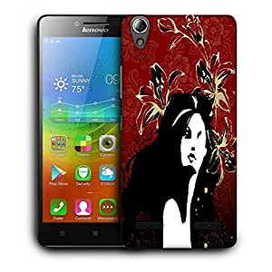 Snoogg Red Orchid Designer Protective Phone Back Case Cover For Lenovo A6000