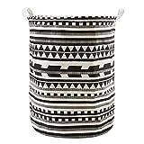 'Laat Wäschekorb SALE Breite Falz Zylindrische Wasserabweisende Beschichtung Baumwollstoff Wäschekorb Aufbewahrungsschuppen mit poignée-19,7x 15,7