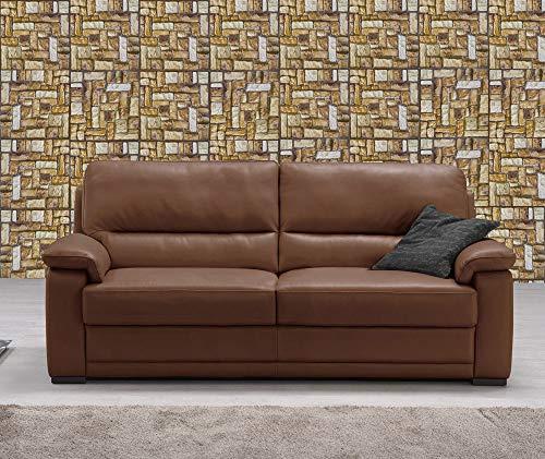 Vetrineinrete® Piastrella Adesiva 3D Effetto Mattone mattonella da Parete autoadesiva ritagliabile murali Adesivi Parati Arredamento Rustico 30x30 cm