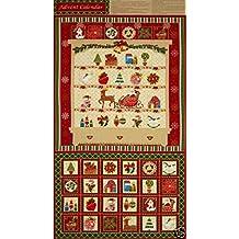 Temporada de felicitación Navidad Calendario de Adviento PANEL acolchado tela 31402