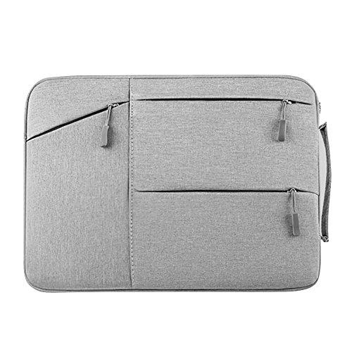 13-13.3 Zoll Laptoptasche mit Griff, tragbare Schutzhülle Sleeve Hülle Schutztasche Aktentasche für Acer/Asus/Dell/Fujitsu/Lenovo/HP/Samsung/Sony/Toshiba,Grau
