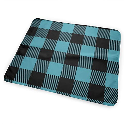 Scale Light Teal And Black Buffalo Check Plaid CBS Bed Pad Washable Waterproof Urine Pads for Baby Toddler Children and Adults 31.5 X 25.5 inch Teal Buffalo