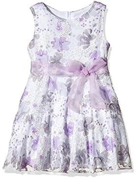 Happy Girls Mädchen Kleid mit Blumenprint und Lila Gürtel