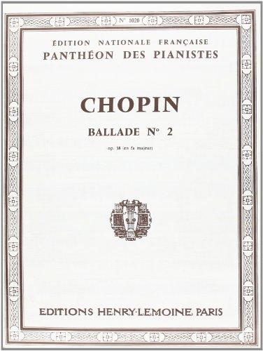 Ballade n°2 Op.38 en fa maj.