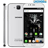 DOOGEE X9 MINI Smartphone, Android 6.0 3G SIM-Free Unlocked Cell Phones - 5 Inch HD Display - MT6580 Quad Core 1GB RAM+8GB ROM - 5.0MP+5.0MP Camera - Dual SIM Fingerprint Mobile Phone - White