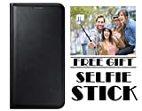 #6: Honor Bee 4G Flip Cover Case With Free Selfie Stick By Vinnx - Black