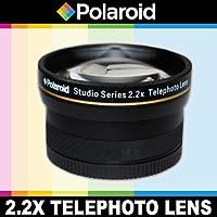 Téléobjectif haute définition 2.2x de Polaroid Studio Series, inclut une housse d'objectif et les couvercles d'objectif pour l'Canon Digital EOS Rebel T4i (650D), T3 (1100D), T3i (600D), T1i (500D), T2i (550D), XSI (450D), XS (1000D), XTI (400D), XT (350D), 1D C, 60D, 60Da, 50D, 40D, 30D, 20D, 10D, 5D, 1D X, 1D, 5D Mark 2, 5D Mark 3, 7D, 6D Reflex numériques Qui avez l'une des (18-55mm, 55-250mm, 75-300mm, 50mm 1.4 , 55-200mm, 70-300mm, 28mm, 85mm f/1.8) Canon lentilles