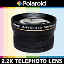 Polaroid serie Studio teleobjetivo 2.2X de alta definición, incluye bolsa y–Tapas para el objetivo para la Nikon D40, D40x, D50, D60, D70, D80, D90, D100, D200, D300, D3, D3S, D700, D3000, D5000, D3100, D3200, D7000, D5100, D4, D800, D800E, D600Digital SLR Cámaras which Have Any of These (18–200mm, 24–120mm, 135mm, 180mm, 24–85mm, 24–120mm F3) Nikon Lenses