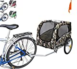 Polironeshop Snoopy Trailer to Transport Dogs Animals Dog Cart Pet Bike Trailer