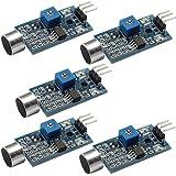 daokai® 5pcs alta sensibilidad Sonido Micrófono Sensor de Detección de Módulo para Arduino AVR PIC