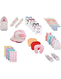 Fareto Baby Hosiery Cotton Essential Combo, 0-6 Months (Multicolour) - Set of 41