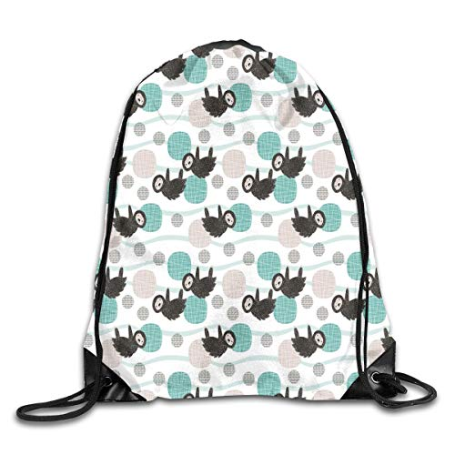 Unisex Drawstring Bag Adorable Little Baby Sloth Print Jungle Trees Pura Vida Collection Fall Teal Blue Home Travel Outdoor Sports Storage Rope Bag Adorable Set Hose