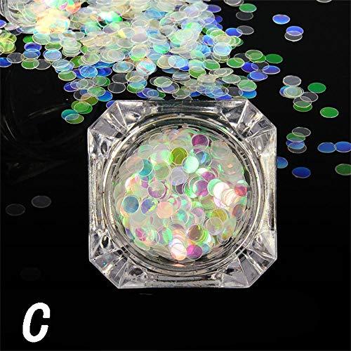 kashyk 1 Box DIY Nagel Patch, Regenbogen Strahl Laser Nail Art Dekoration Patch Schmuck, umweltfreundliche dauerhafte, Make-up, Hochzeit, Foto