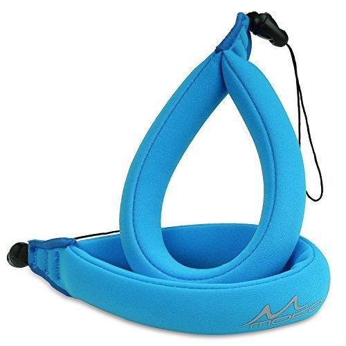 MoKo Wasserdichte Kamera Schwimmer Handschlaufe - (2-Stück) Schwimmende Armtrageschlaufe Float Strap für Ihre Unterwasserkamera, GoPro, Nikon, Olympus, Canon, Panasonic Lumix,Blau Olympus Float Strap
