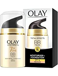 Olay Total Effects Anti-Ageing 7-in-1 BB Cream SPF15 for Medium Shade Fights the 7 Signs of Ageing and Evens Skin Tone, 50 ml