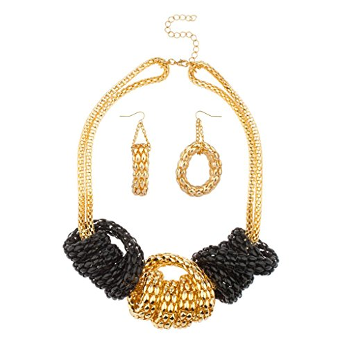 lux-accessories-black-chunky-chain-link-knot-necklace-matching-earrings