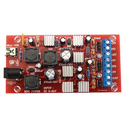 Festnight DC 5-24V DIY USB Boost Single Drehen Dual Power Supply Modul Linearregler Regulator Mehrere Output Power Kit Kit Dc Power Supply