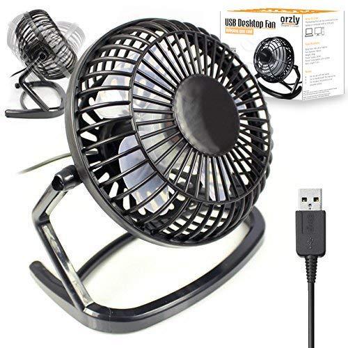 G-HUB Retro USBVentilateur USB léger et Portable Noir 10 cm