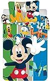 KK Disney Mickey Mouse - Biancheria da Letto per Bambini, 40 x 60 cm + 100 x 135 cm