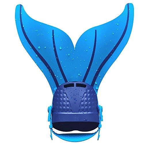 Meerjungfrau Flossen Silikon Monofin Taucherflossen Schwimmtraining Verstellbar Monoflossen für Kinder Schwimmflossen Freestyle Schwimmen Fin By (Kostüme Freestyle)