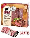 Block House Rib-Eye Frischfleisch ca. 1,31 kg inklusive gekühltem Versand innerhalb von ca. 7 Arbeitstagen (da frisch zugeschnitten)