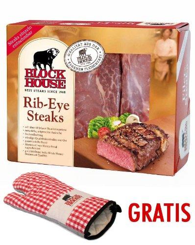 Block House Rib-Eye Frischfleisch ca. 1,31 kg inklusive gekühltem Versand innerhalb von ca. 7 Arbeitstagen